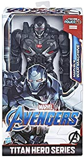 Marvel Avengers: Endgame - War Machine Titan Hero Deluxe compatibile con Power FX (Action Figure da 30 cm, Power FX non in...