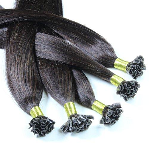 Just Beautiful Hair 100 Extensions U-tip Cheratina Capelli Veri Remy Indiani 60cm - #1b nero naturale, 1x100 ciocche
