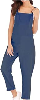XINHEO Womens Oversize Solid with Strap Loose Thin Rompers Overalls