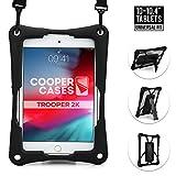 Cooper Trooper 2K Rugged Case for 10-10.4'' Tablet | Tough Bumper Protective Drop Shock Proof Kids Holder Carrying Cover Bag, Stand, Hand Strap (Black)