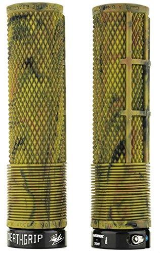 Puños Brendog Deathgrip de DMR para bicicleta MTB, color Camo Non Flange, tamaño Soft/Thin (A20)