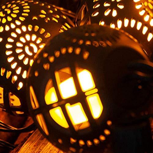 Led-lampen-model nieuwe kerstdecoratie vlam bal licht string warm wit 8 functies infrarood afstandsbediening, waterdicht, geschikt voor Kerstmis Halloween, binnen-, open haard elise