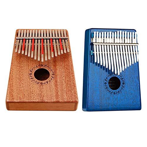 Price comparison product image FRRPSG 1Set K17M C Tone Mahogany Kalimba 17 Keys Thumb Piano Mbira Finger Piano Gifts