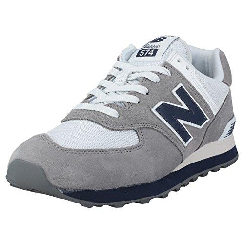 New Balance 574 Core Plus, Zapatillas para Hombre, Gris (Gunmetal/Navy ESD), 43 EU (Talla Fabricante: 9 UK)