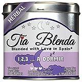 TIA BLENDA - 1,2,3... A DORMIR (30 g) - Relajante infusión Premium con HIERBALUISA y TILA. Selección de hierbas naturales sueltas. 50 - 60 tazas. Presentación premium en lata. Loose Tea Caddy.