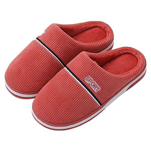 YTWD Zapatillas de casa para Mujer, Zapatillas de Espuma viscoelástica, Forro de Felpa difusa, Zapatos de casa sin Cordones para Uso en Interiores y Exteriores, Rojo, M