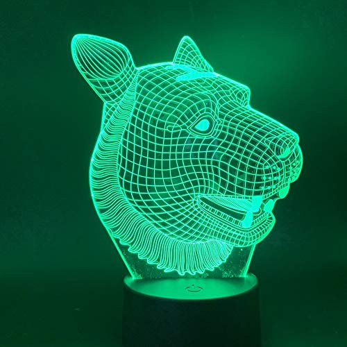 Lampada Da Notte A Led 3D Tiger Animal Light Lampada Da Notte Per Bambini Camera Da Letto Lampada Touch Control Sensor Regalo Per Bambini Luci Notturne Moderne
