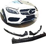 Borde de parachoques delantero adecuado para Mercedes Benz Clase C W205 C205 A205 Sport C43 AMG 2 puertas 4 puertas 2015-2017 fibra de carbono CF protector divisor de alerón de barbilla labio dela