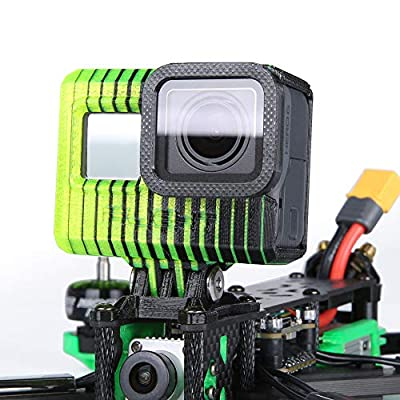 iFlight 3D Printed Adjustable Camera Mounting Case Seat 0~40° TPU Compatible Gopro Hero 5/6/7 Used for TITAN XL5/DC5/Nazgul5/SL5 Series FPV Racing Drone Quadcopter Frame (Black & Yellow) from iFlight