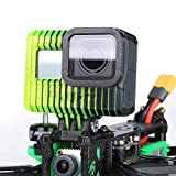 iFlight 3D Printed Adjustable Camera Mounting Case Seat 0~40° TPU Compatible Gopro Hero 5/6/7 Used for TITAN XL5/DC5/Nazgul5/SL5 Series FPV Racing Drone Quadcopter Frame (Black & Yellow)