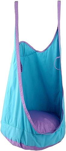 Erwachsene Kinder Tasche Schaukel Indoor Outdoor VergnügungSpaßk Sport Spielzeug Stuhl H ematte Schaukel (Farbe   Blau)