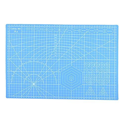 Zoumminny Tabla de Cortar, diseño Antideslizante Material del PVC de la Tabla de Cortar A3 para Dibujar para el Borrador del diseño(Blue)