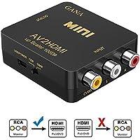 RCA a HDMI, GANA AV a HDMI Convertidor de Video Soporte 1080P con Cable de Alimentación USB para PC/Laptop/Xbox / PS4 / PS3 / TV/STB/VHS/VCR Cámara DVD-Oro