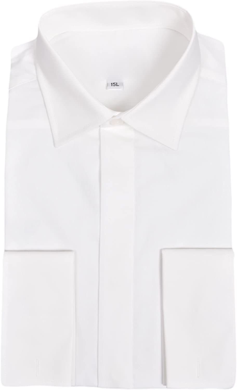 Ex-Branded Herren Fmen Milan Italy Camisa Doble Puño Formal