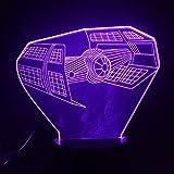 Forma de avión creativo 3D luz de noche USB 3D luz LED mesa de comedor atmósfera dormitorio luz exquisita insignia decoración luz regalo de vacaciones decoración lámpara de mesa