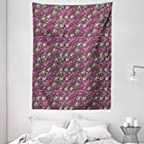 Eggplant Tapestry, Retro Inspired Stacks of Delicious Eggplants Product of Nature Ingredient Cusine