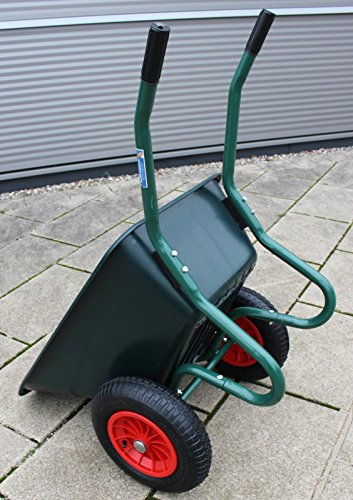 TrutzHolm® 2-Rad Schubkarre Basic PP Gartenschubkarre Schiebkarre Gartenkarre 100l 160kg - 2