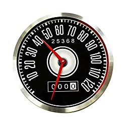 Wall Clock Without Ticking Noises Men Boys Children Creative Gifts Silent Vintage Watches Like The Speedometer in Ford Mustang Retro Radio Wall Clock for Office Home Wall Art Aluminium Diameter 30 cm