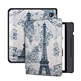 Deylaying PU Leather Case Smart Cover for Kobo Libra H2O 2019 Release 7 Inch, Protection E-Reader Shell with Auto Sleep/Wake Sleeve