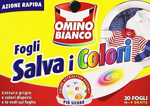 Omino Bianco - Fogli Salva i Colori - 4 confezioni da 20 fogli [80 fogli]