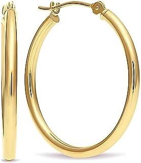 Best polished gold hoop earrings Reviews