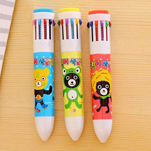 Balpen - Cartoon Animal 0.5mm Multifunctionele Pen Mode Creatieve Stylus Touch Office - Multi kleuren Office Schrijf Gemakkelijk Rose Mooie Kleuren Zwaar Onder Gemaakt Kleurrijke Verschillende Parker Bulk Th N12