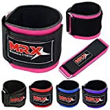 MRX BOXING & FITNESS Weight Lifting Wrist Support Wraps Strap for Gym Strength Bodybuilding Training Workout Crossfit for Men and Women (Pink)