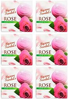 Mysore Sandal's rose luxury bath soap, Pack of 6