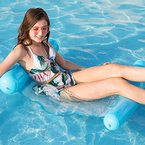 SANGSHI Colchoneta hinchable para piscina para adultos, silla de piscina portátil, flotador flotante para piscina, playa