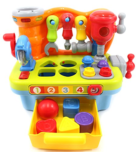 PowerTRC Little Engineer Multifunctional Musical Learning Tool Workbench For Kids