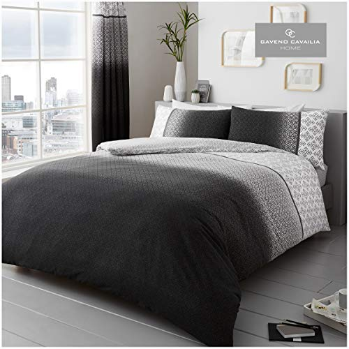 Comfy URBAN OMBRE Bed Set with Duvet Cover and Pillow Cases, Polyester-Cotton, Grey, King