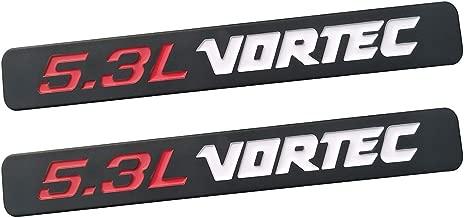 Yuauto 2 Pack 5.3L Vortec Hood 5.3L Emblems Engine Badge 3D Replacement for Silverado Z71 GMC Sierra (Black White)