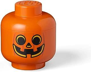 LEGO Storage Head Small-Pumpkin, Orange