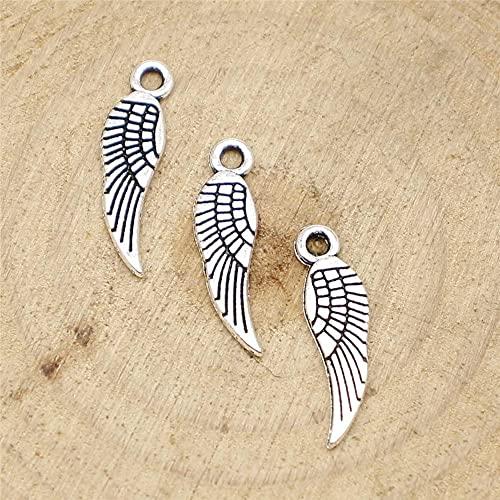 WANM Colgante 40 Uds 19 MmEncantos De ala para Bricolaje Pulsera Collar Fabricación De Joyas
