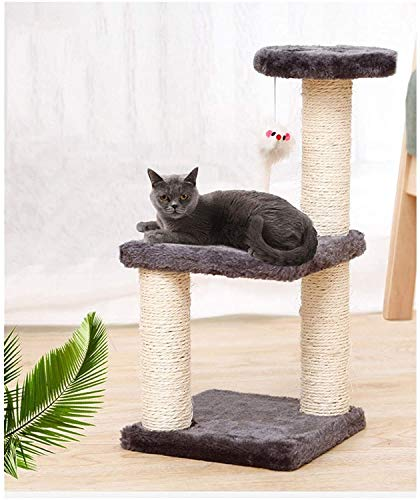 Cat Rasging Post, Cat Perse, Cat Tree Tower Tower Activity Center, Cat Toy Cat Tree Pet Supplies Pet Cat Tree House Cat Stickling Marco de escalada Marco con hamaca Cat Table Pet Gat Toy Kitty (Color: