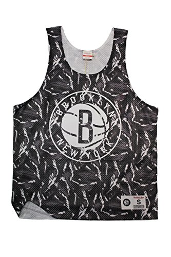 Mitchell & Ness Camiseta de Tirantes NBA Reversible Mesh Tank Brooklyn Nets GR/WH