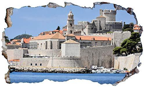 Chicbanners Dubrovnik Croatia V102 - Adhesivo decorativo para pared (1000 mm de ancho x 600 mm de profundidad)