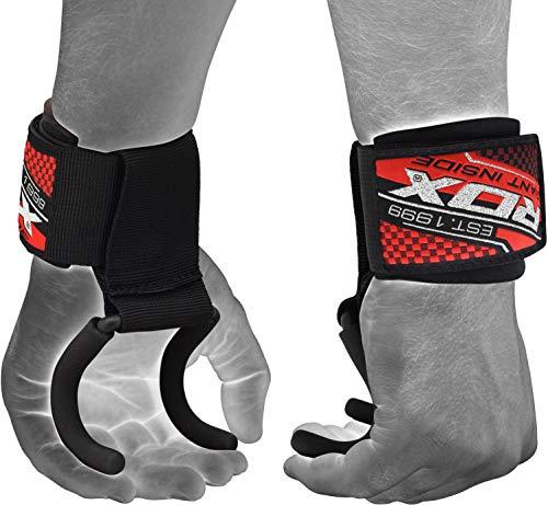 RDX Ganci Sollevamento Pesi Cinghie Fasce Polsi Palestra Fitness Gancio Supporto Peso Bodybuilding