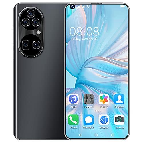 Smartphones SSS@ P50 Pro vertrag günstiges Android Handy, 7.3 Zoll Full FHD+ Bildschirm, 6800mAh großer Akuu, Dual-SIM, Face ID und Android 11.0