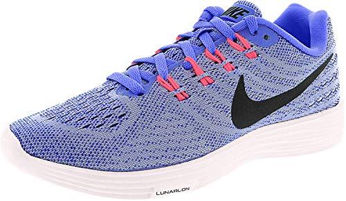 Nike Womens Lunartempo 2 Running Trainers 818098 Sneakers Shoes (UK 4 US 6.5 EU 37.5, Aluminium Black Blue 408)