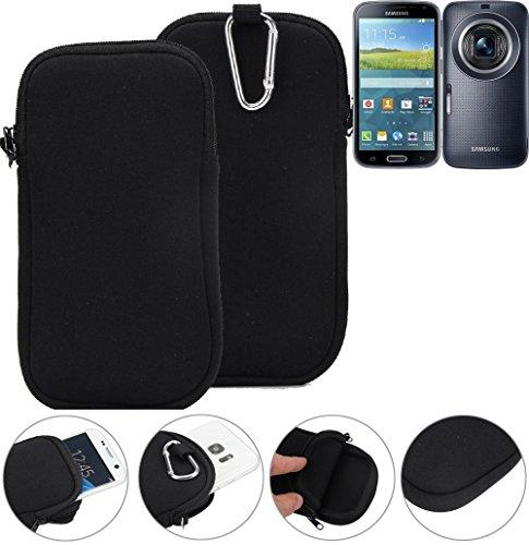 K-S-Trade Neopren Hülle Für Samsung Galaxy K Zoom 3G Schutzhülle Neoprenhülle Sleeve Handyhülle Schutz Hülle Handy Gürtel Tasche Hülle Holster Handytasche Schwarz