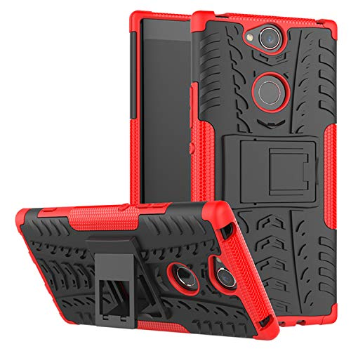 betterfon   Sony Xperia XA2 Plus hülle Outdoor Handy Tasche Hybrid Hülle Schutz Hülle Panzer TPU Silikon Hard Cover Bumper für Sony Xperia XA2 Plus Rot
