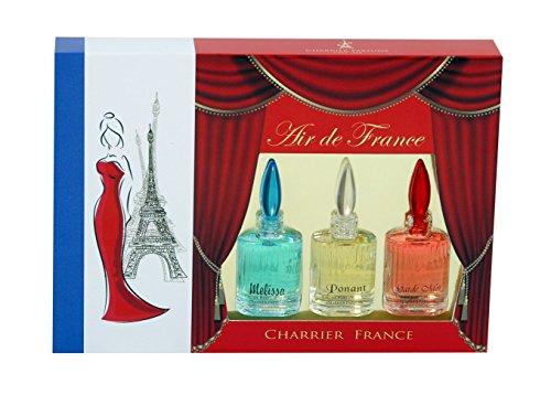 Charrier Parfums Air de France Coffret de 3 Eau de Parfums Miniatures Total 15 ml