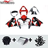 Motorcycle Red Black Fairings Fit For Kawasaki ZX-9R 2002 2003 02 03 ZX9R 2003 Fairing Kit ABS Plastic Compression Mold Bodywork