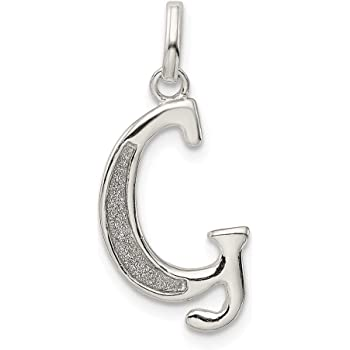 Solid 925 Sterling Silver Letter S with Enamel Pendant