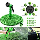 <span class='highlight'>dicn</span> <span class='highlight'>electronic</span> Expandable Stretch Garden Hose Magic Hosepipe 75FT / 100FT / 150FT / 200FT with Water Sprayer Nozzle Flexible Lightweight for Home Lawn Washing Car Easy Storage