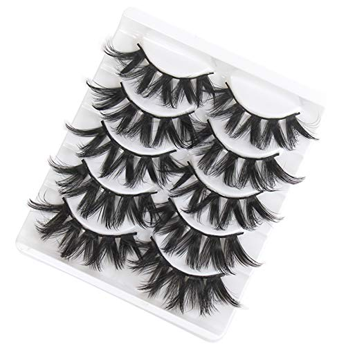 Alysays Easy to Carry 5 Paare Wimpern Mink Wimpern Faux Wimpern Mink falsche Wimpern Dramatische Band Wimpern Wimpernverlängerung Falsche Wimpern Beautiful (Color : 3D 11)
