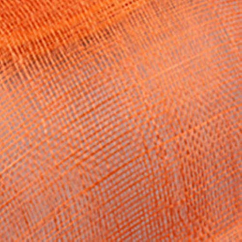 FHKGCD Champagne Flower Feather Fascinator Race Sombreros para Dama Vestido De Novia Formal Sombrero Negro Sombrero De Lazo Grande Velo De Malla, Naranja,