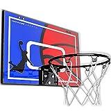 HAHAKEE Tür/Wand Mini Basketballkorb Set für den Innenbereich, Basketball Backboard mit Wegbrechen Stahlrand Enthält Basketbälle und Eine Handpumpe