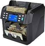 ZZap NC70 Mixed Denomination Bill Counter/2 Pocket Sorter/Counterfeit Detector - Money Cash Value Currency Machine